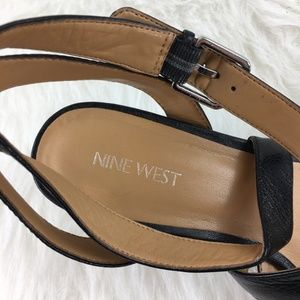 Nine West Shoes - Nine West Sz 8.5 Black strappy sandals block heels